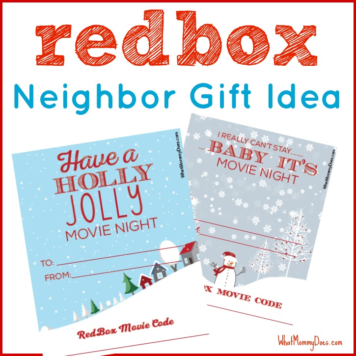 Cute Redbox Neighbor Christmas Gift Idea