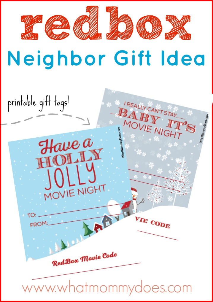 Cute Redbox Neighbor Christmas Gift Idea - What Mommy Does