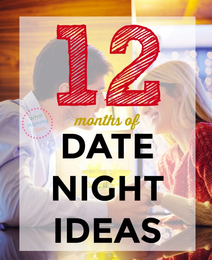 Just because you're married doesn't mean you have to be BORING!! Here are 12 months of date night ideas so at the very least you have a fallback idea for each month! It's a variety, so some are cheap, some are romantic, and some of creative. Show your hubby some love and bring the spark back! :D