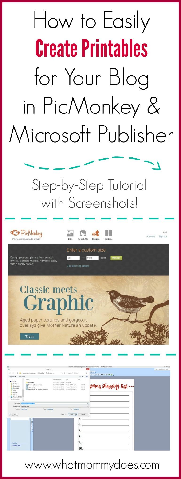 Design Free Printables for Blog Posts
