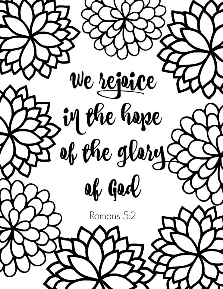 Romans Bible Verse Coloring Page