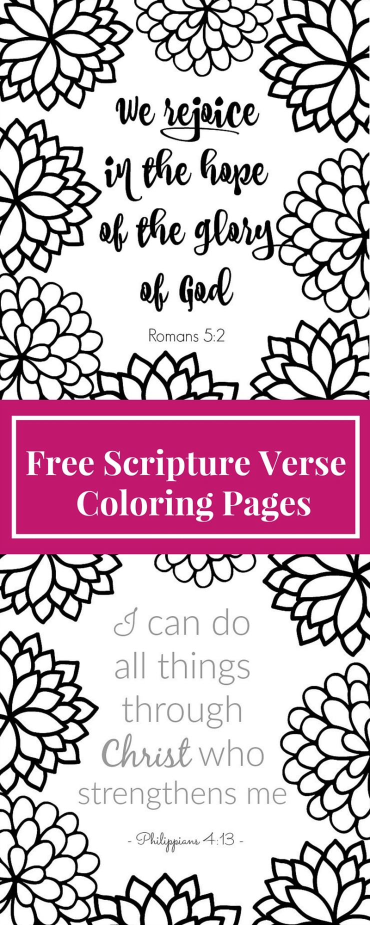 I just got into coloring pages again as a grown up! These Bible verse coloring page printables are inspirational, fun & relaxing to color. This blog has tons of free printable adult coloring pages with Christian themes.