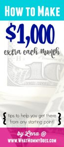 how to make 1000 extra each month