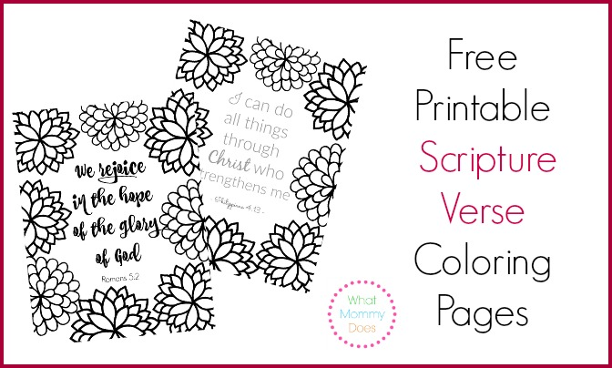 free printable scripture verse coloring pages what mommy does - Coloring Book Pages For Adults 2