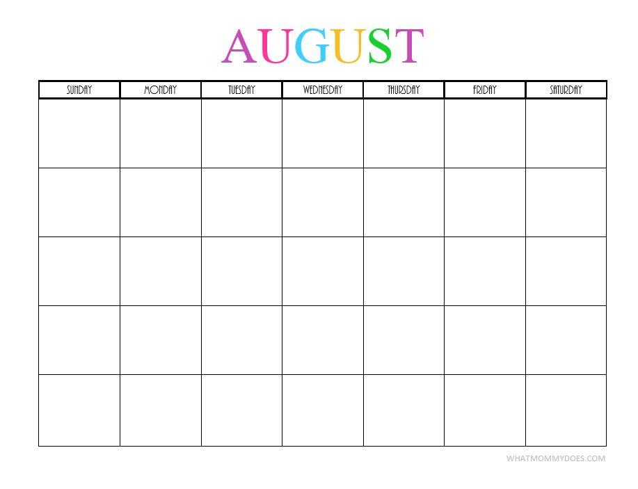 August blank