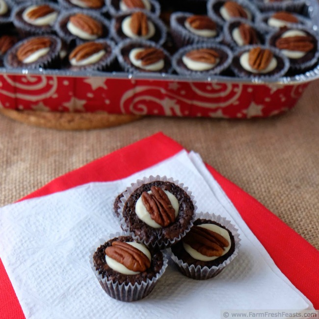 Pecan brownie bites from Farm Fresh Feasts