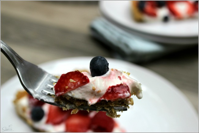 Simple No Bake Fruit Tart from A Dash of Sanity