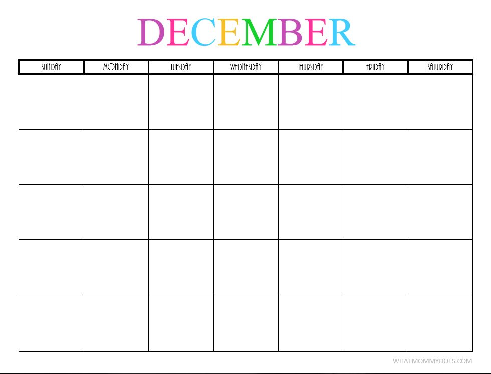 December blank