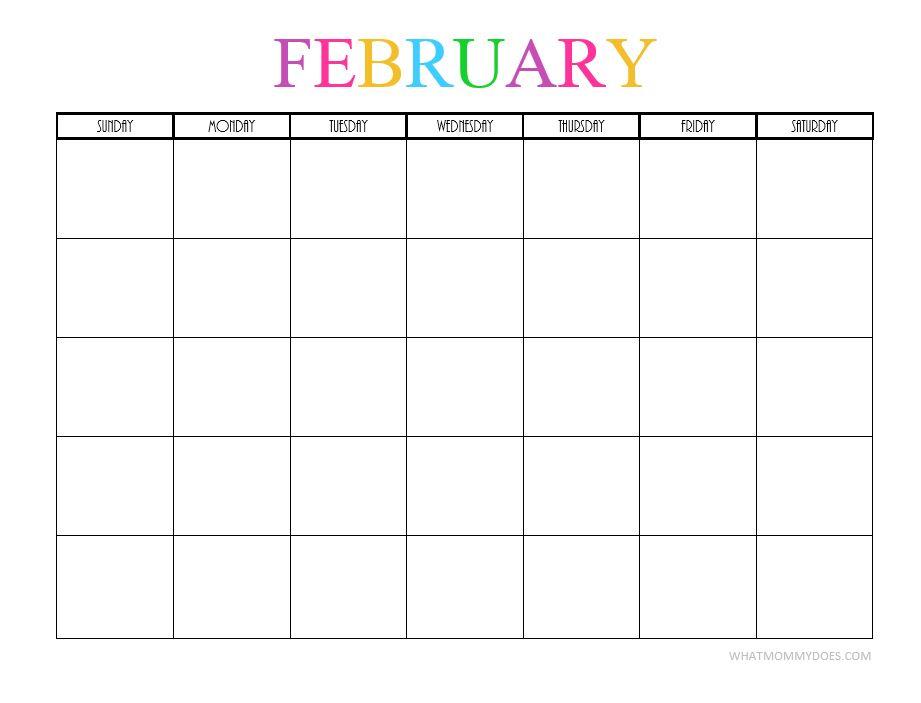 February blank