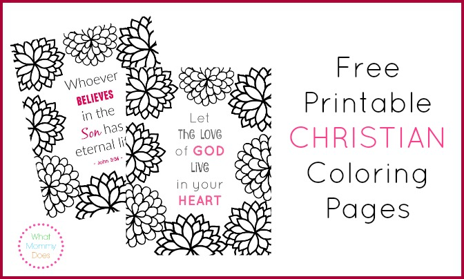 free printable christian coloring pages what mommy does - Christian Coloring Pages For Adults