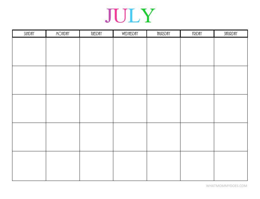 July blank