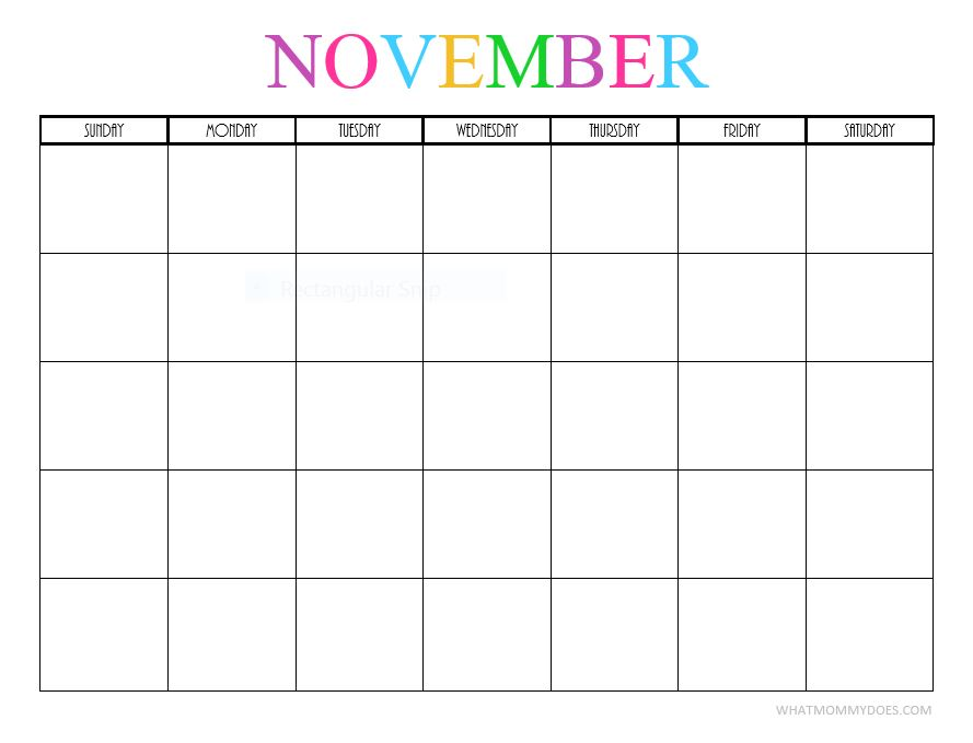 Free printable blank monthly calendars 2017 2018 2019 2020 october blank november blank solutioingenieria Image collections