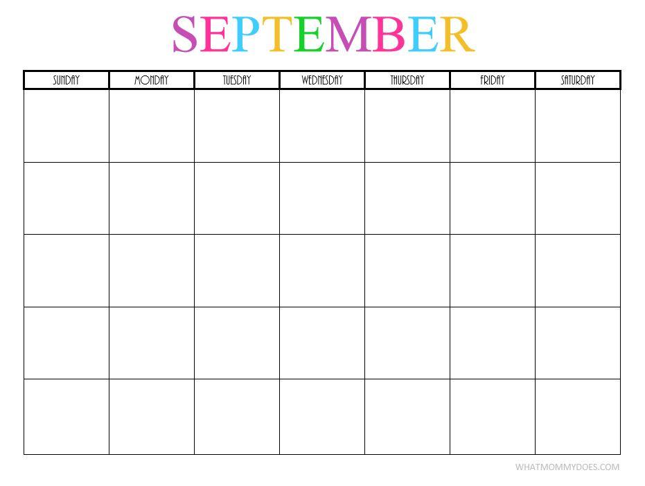 Free Printable Blank Monthly Calendars - 2018, 2019, 2020 ...