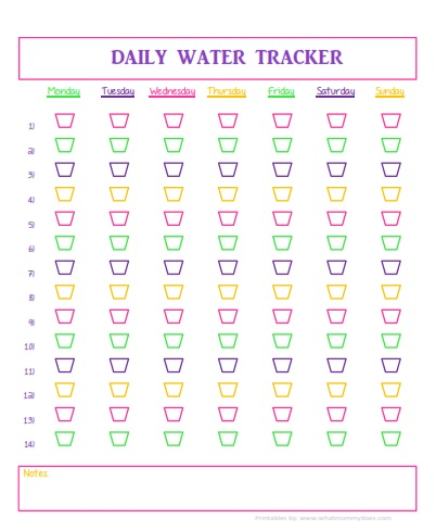 Water Tracker colorful