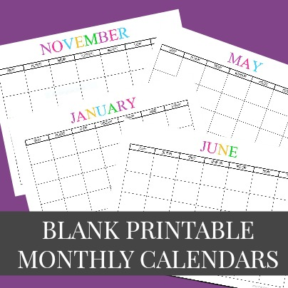 free printable blank monthly calendars 2018 2019 2020 2021