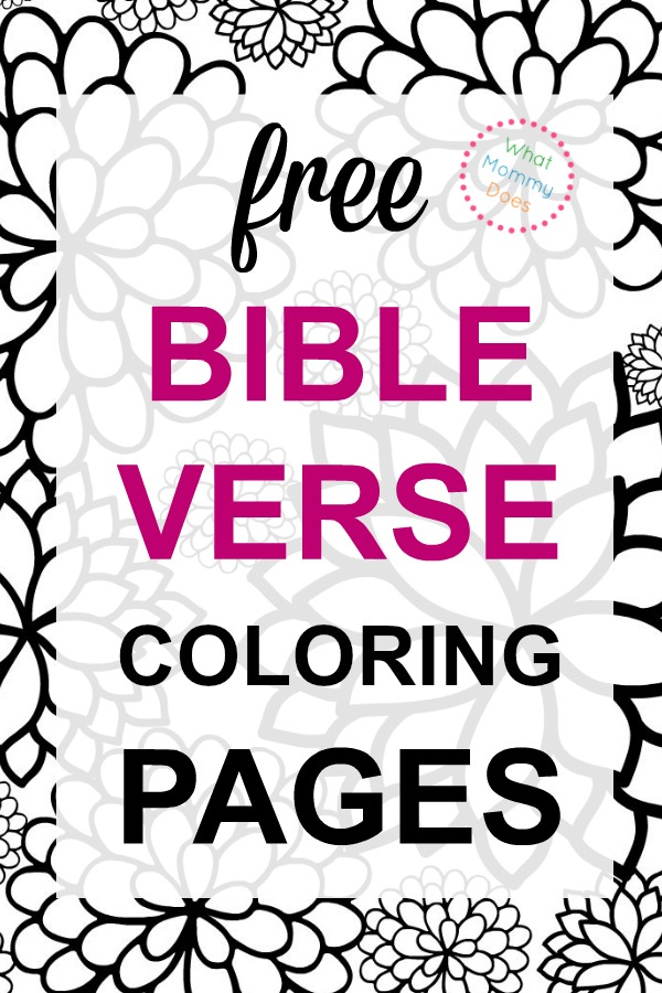Bible Verse Coloring Pages Collection What Mommy Does
