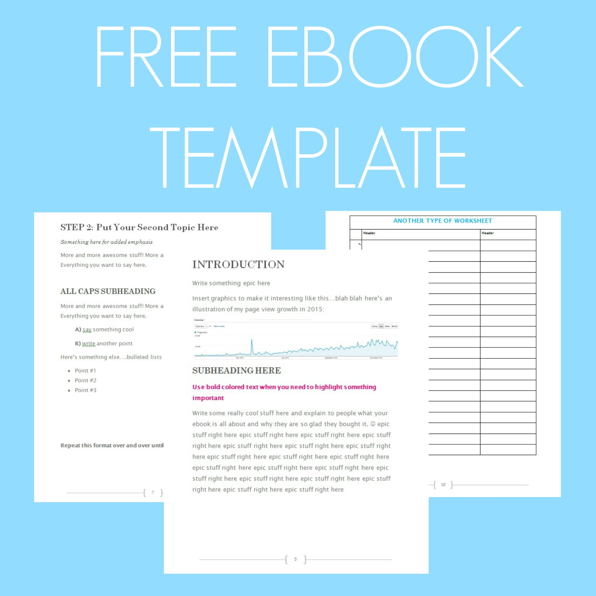 Free Ebook Template - Preformatted Word Document - What Mommy Does