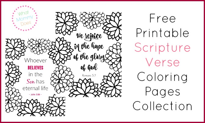 Bible Verse Coloring Pages Collection - What Mommy Does