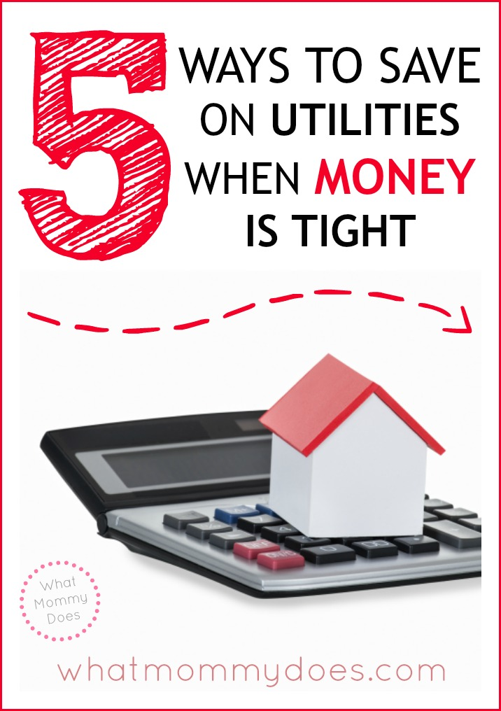 When money is tight, sometimes you need to cut your budget. These 5 money saving tips focus on utilities because saving money on phone, electricity, cable, and gas can make a HUGE difference in your household expenses! #budgeting