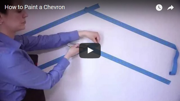 How to Paint a Chevron Pattern on a Wall – Quick Tutorial