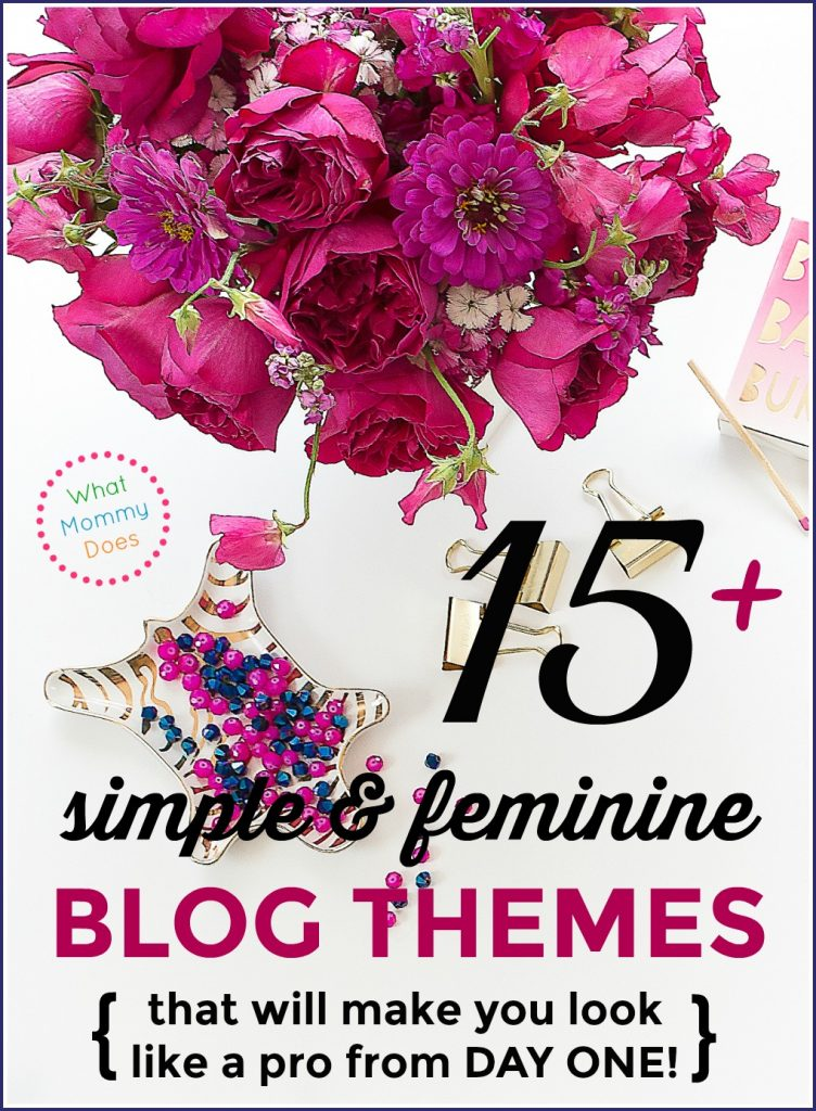 Having a lovely blog theme for your WordPress blog will make your blog look pretty from DAY ONE! Here are 15 pretty designs perfect for almost any lifestyle blog like a food, parenting, organizational, fashion blog, etc. These professional looking templates are designed on the Genesis framework (the best option for your new blog). Some of the templates have simple, minimalist layouts and others are decidedly feminine themes. All great options depending on your taste. | WordPress blog themes, inexpensive blogging templates