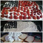 Red, White, and Blue Dessert Idea – No Bake Patriotic Flag Cake
