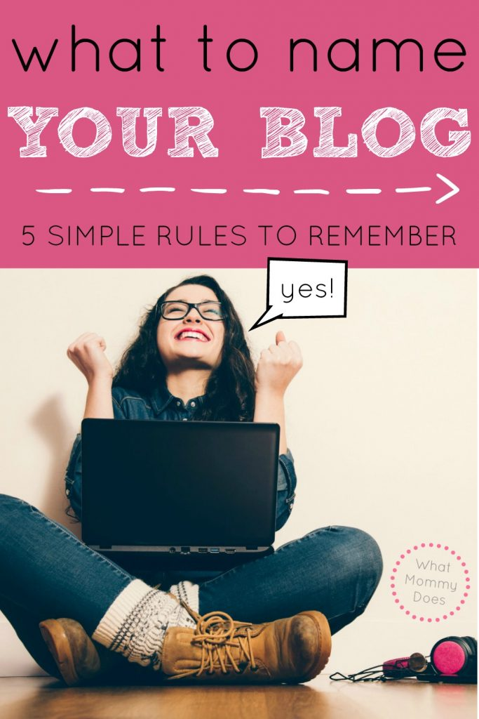 what to name your blog simple rules
