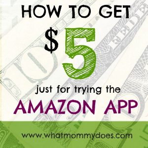 If you've never used the Amazon APP before, here's $5 off!