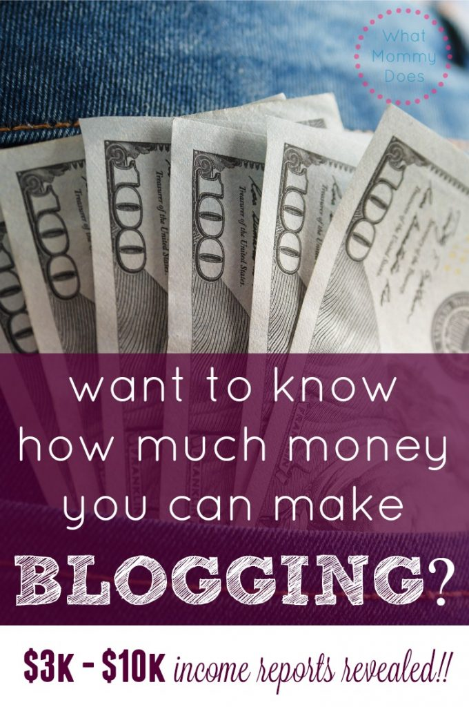 how much money blogging income reports