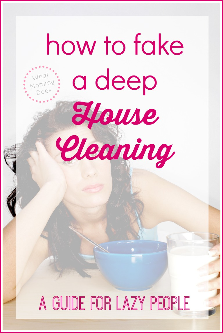 A Crazy Easy Way to Clean Your House - a Guide for Lazy People ...
