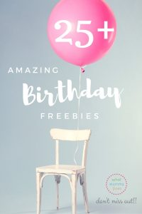 free birthday stuff!! yassssss