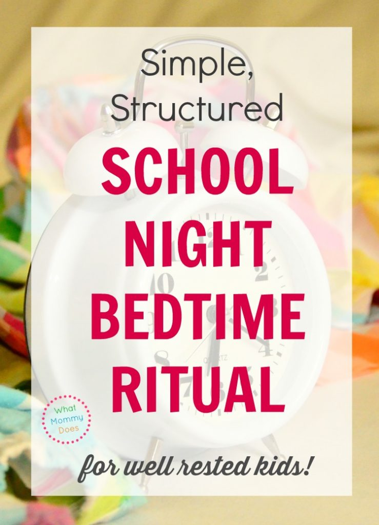 school night bed time ritual