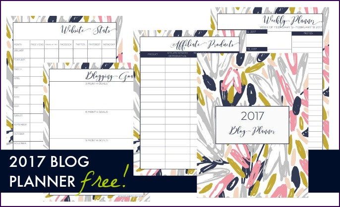 It's everything you need to organize your blog life in 2017! Best of all, it coordinates with my free printable 2017 monthly calendar