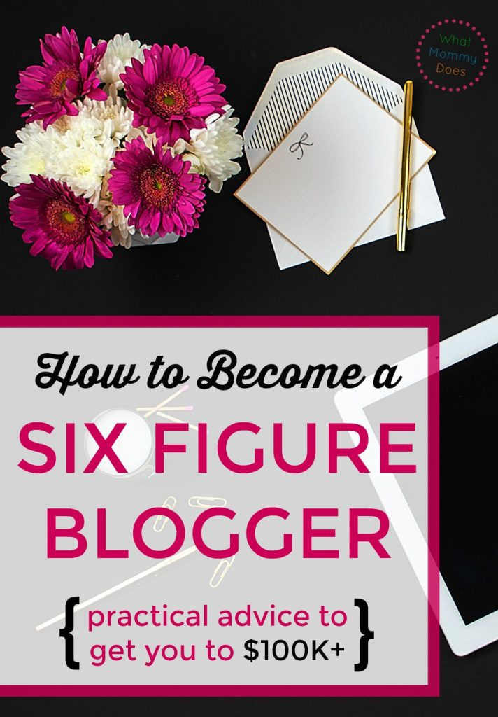 Whether you want to start a blog and make money or have a blog already, there is something you MUST know about becoming a SIX FIGURE blogger! The answer is simpler than you probably realize. This is the difference between a blogger that makes a few thousand vs one hundred thousand or more per year! | how to make money blogging, build a blog