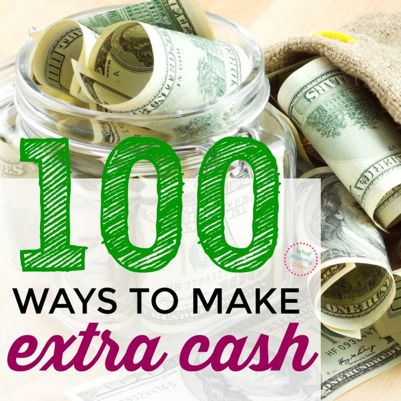 I need a way to make extra money from home! Here are 100 ways to make money in this list! You could make $500 to $1,000 extra easily. They're money-making ideas that have worked for me & my friends.
