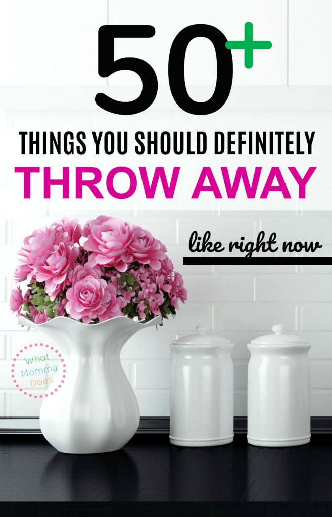 If you're feeling overwhelmed by clutter, you'll feel SO MUCH BETTER if you purge these items from your home! It was so much easier to get started organizing when I had less stuff to worry about. Just do it without thinking & you'll feel better! | list of things to throw away | decluttering checklist | conquer clutter | organized home ideas | plan to reduce & simplify
