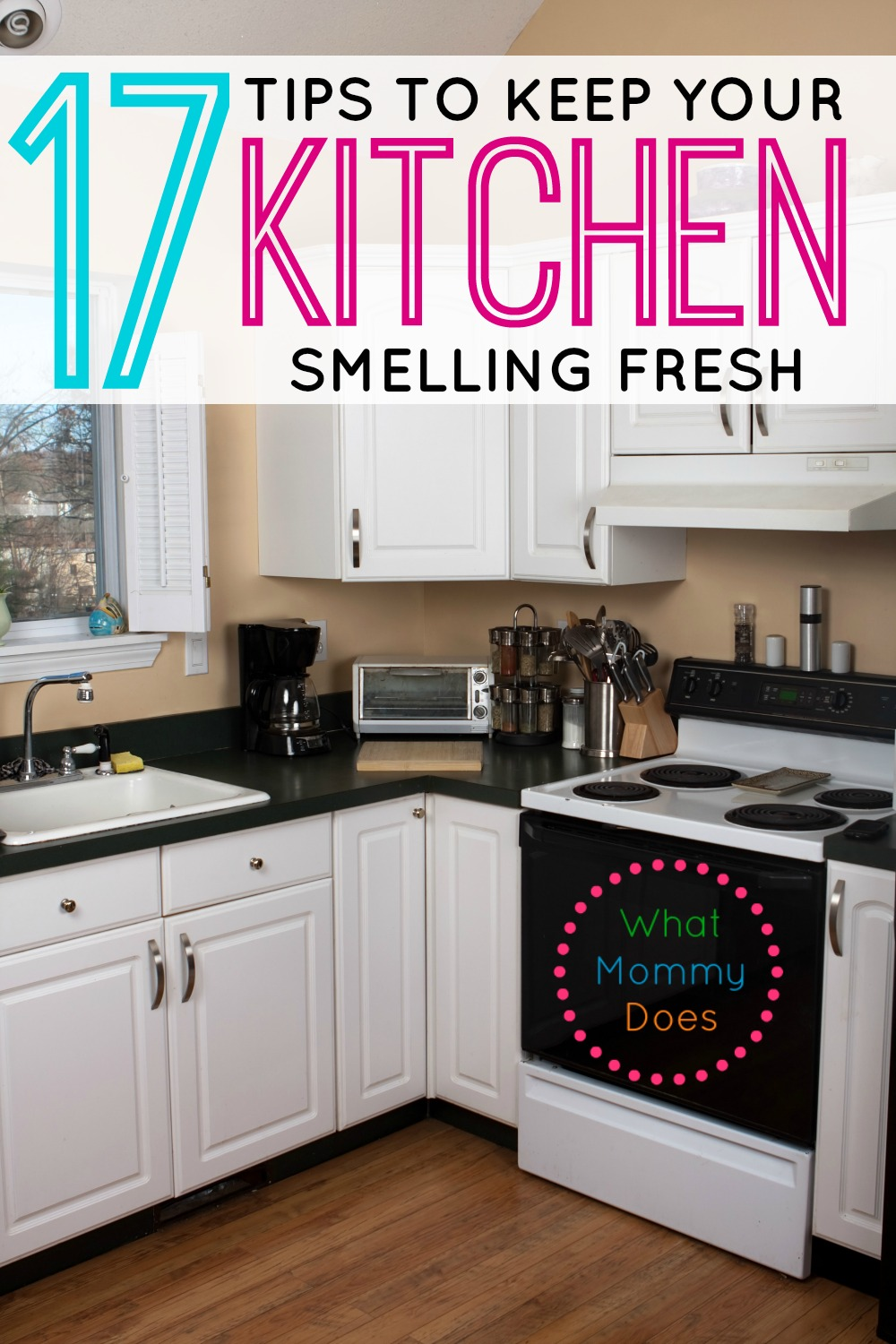 Discover how to get rid of kitchen smells and to keep your kitchen fresh and clean. These 17 tips and tricks are super easy for a clean kitchen!
