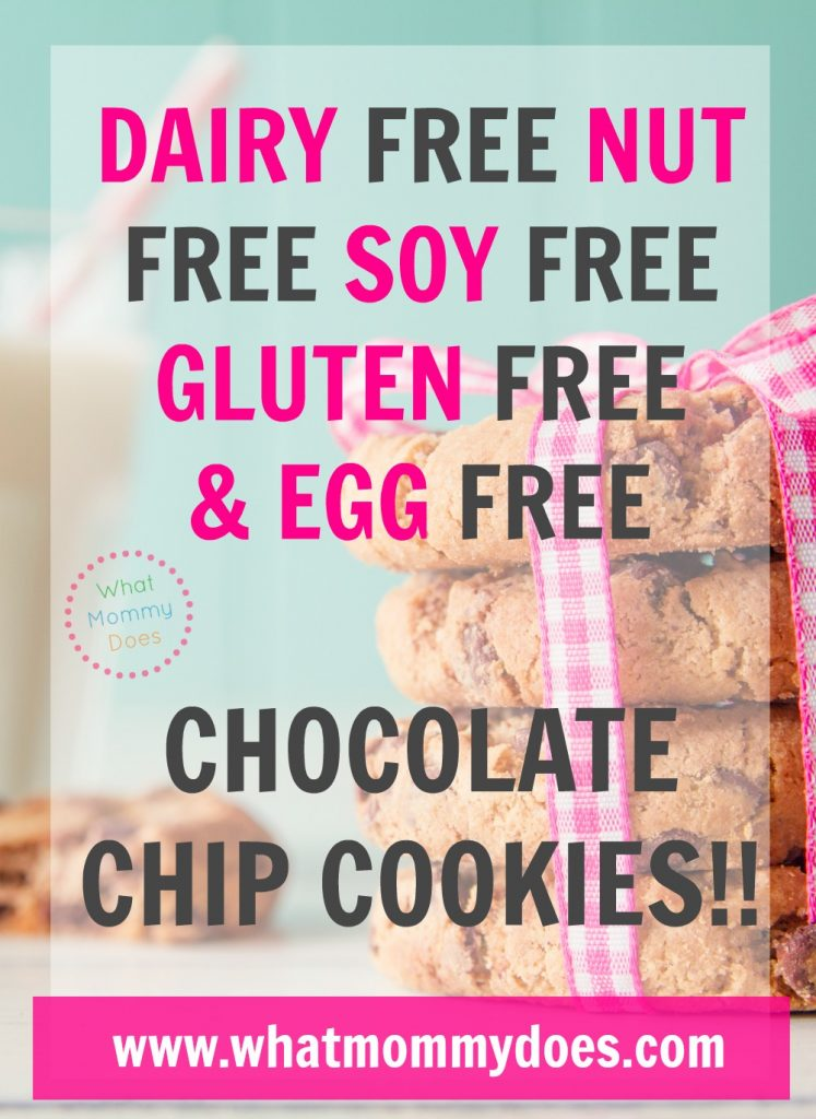 I was desperate to find a chocolate cookie that met these dietary requirements! You really have to taste these to believe how good they are! These cookies are DAIRY free, SOY free, GLUTEN free, EGG free, and NUT free! You would think they taste bad but they're actually super scrumptious! My daughter takes these for snack at school. (and I sneak them sometimes myself LOL) | milk allergy, soy allergy, nut allergy, nut free snack ideas, gluten free snacks, food intolerance, dairy sensitivity