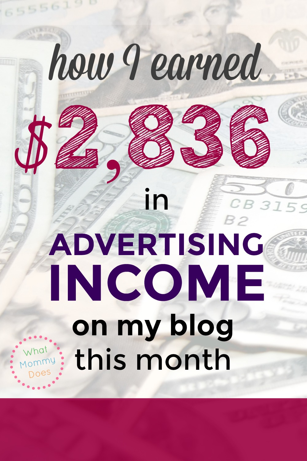 If you want to make money blogging, this is a great income report to read - she goes over her 4 main income streams, including $2,836 from ads and $2,688 in affiliate income. She makes a full time income and I've learned so many things from her income reports! Make sure to read this if you want your blog to make real money! You'll be glad you did. | money making blog ideas, blogging tutorials, blog tips, earn extra money from home