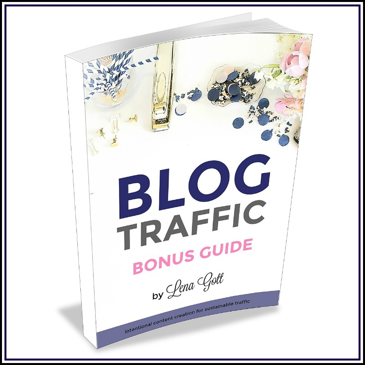 FREE BLOG TRAFFIC BONUS GUIDE: These are 3 strategies I used to go from 17K monthly page views to over 350K page views in 9 months. If you blog for money, you'll want to read this! Having more traffic means higher paying sponsored posts, more affiliate income, and more ad income. The strategies are simple on the surface, but powerful when you add up the effects. Grab this FREE GUIDE and start growing your blog! | step by step blog tutorial, blogging ideas, blogging traffic checklist