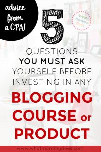 Before you ever invest a single dime into your blog, you need to read this!! This should be mandatory reading for every blogger, new + old. This girl is a CPA who now blogs & she explains exactly how she evaluates blog decisions as a CPA. She runs her blog like a business, not a hobby, and earns over $13K per month! I'm going to use these methods. | money making blog, online entrepreneur tips, blogging ideas, make money blogging
