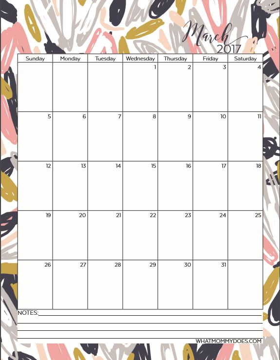 free printable 2017 monthly calendars