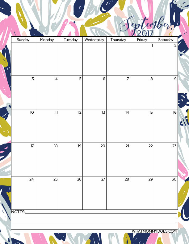 Free Printable 2017 Monthly Calendars - What Mommy Does