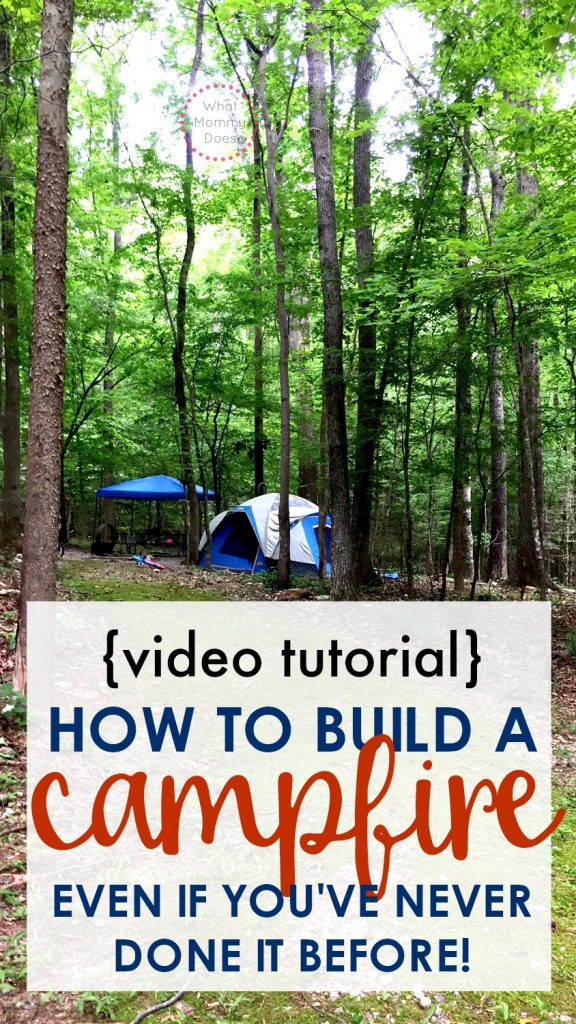 Are you going camping for the first time? You'll need to know how to make a fire to cook on + keep warm. It's SO EASY once you know the technique to follow! This video tutorial by an Eagle Scout shows you the 3 best ways to create a campfire. You can start a fire even if you've never done it before! | what to do to camp out, family camping ideas, first time camping tips,