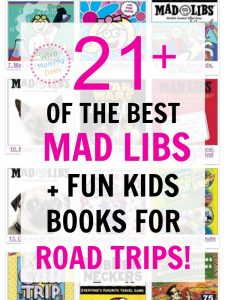 Our road trips go SO MUCH smoother with the kids when we I have fun stuff for them to do! These mad libs + other awesome books are perfect car ride activities. We love to take a few so the kids always have things to do in the car. | long road trip ideas for kids, family road trip planning