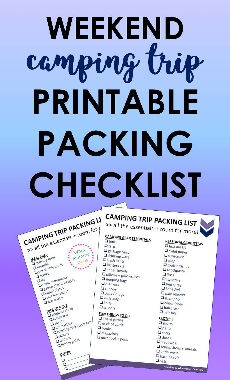 I'm so glad I found this camping packing checklist! It made preparing for our weekend camping trip so much easier!! I'm not even kidding. I kept getting worried that I wouldn't know what to bring for the kids or how we'd survive the weekend in a tent together. This girl makes it sound so simple & straightforward. Highly recommend this list of essentials. You can always add extra stuff yourself later, but it's nice to know what you need / don't need to take.   tent camping newbie, camping with kids, camping ideas