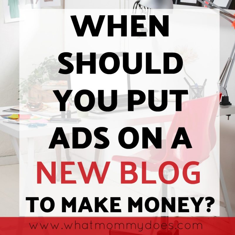 Do you know when you should ads on your blog? This post explains when + how.