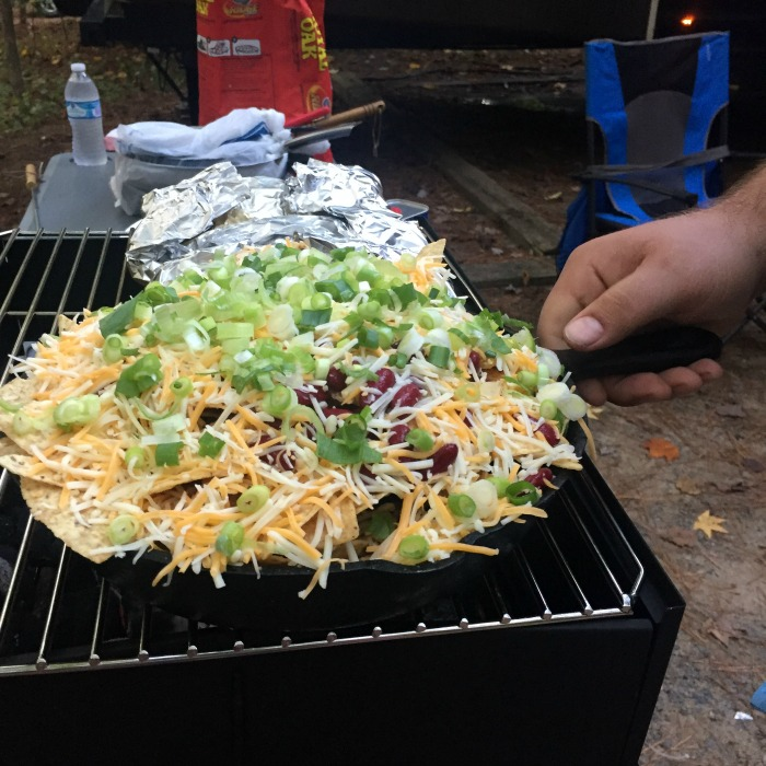 Campfire nachos are super easy and a big hit with large groups. Will you make enough for everyone?
