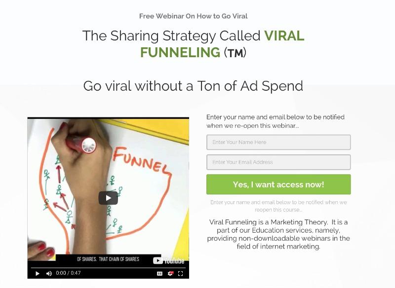 viral funneling on Facebook free webinar
