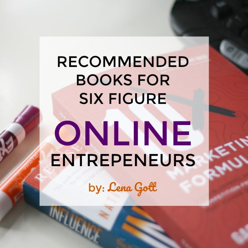 Here's a list of recommended books if you want to grow your online business to $100,000 or more in annual revenue. - books on marketing, SEO, and more!